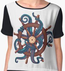 Сaptain Octopus. Vintage print Chiffon Top