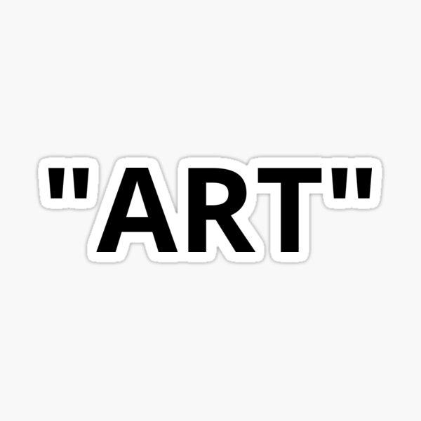 """ART"" Quotation Marks Sticker"