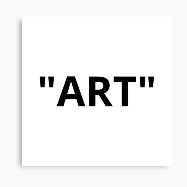 """ART"" Quotation Marks Canvas Print"