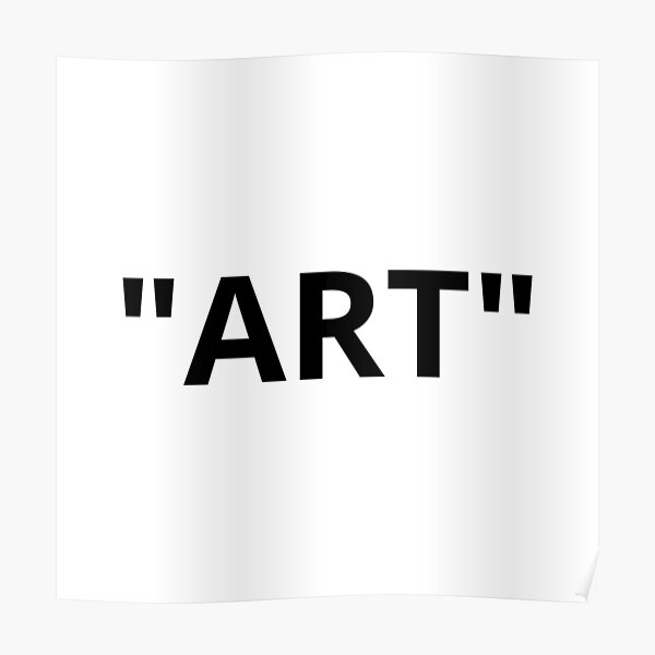 """ART"" comillas Póster"
