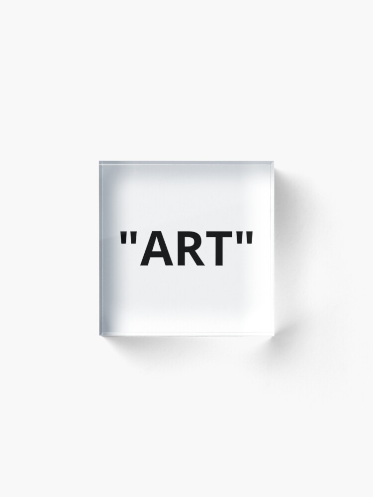"Alternate view of ""ART"" Quotation Marks Acrylic Block"