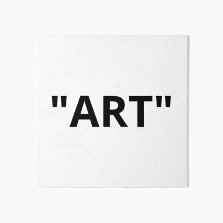 """ART"" Quotation Marks Art Board Print"