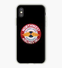 Vintage Northwest Airlines sign iPhone Case