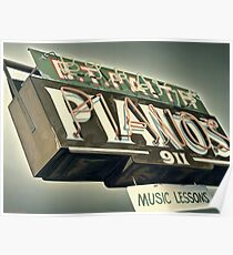 B.T.Faith Pianos Poster