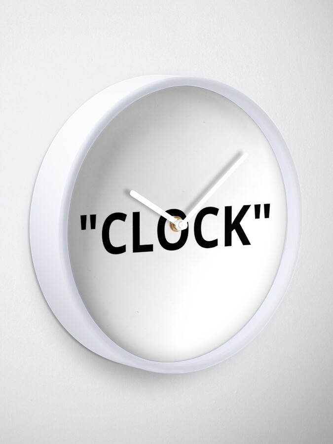 "Alternate view of ""CLOCK"" Quotation Marks Clock"