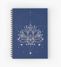 Lotus Dark Spiral Notebook