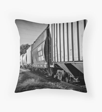 Train Cars Throw Pillow