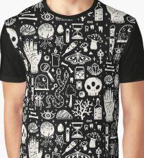 Kuriositäten: Bone Black Grafik T-Shirt