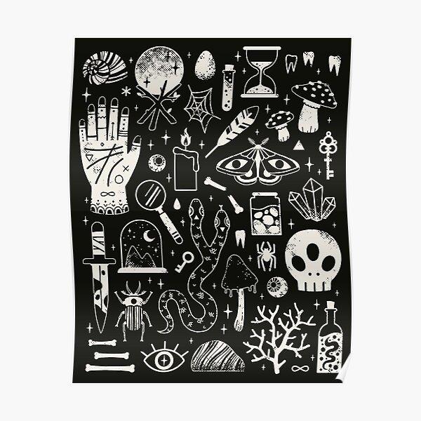 Curiosities: Bone Black Poster