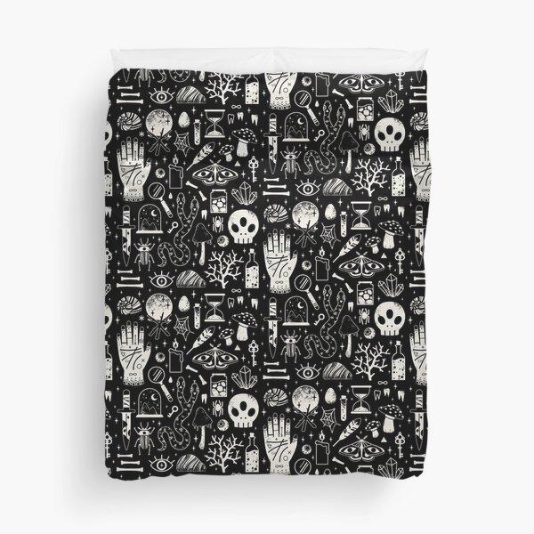 Curiosities: Bone Black Duvet Cover