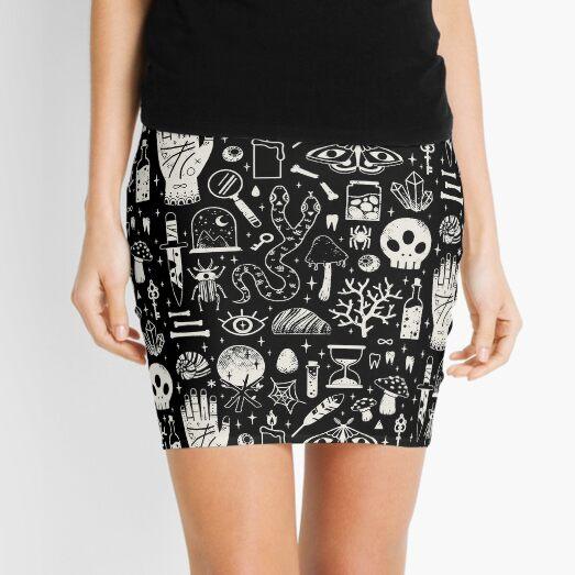 Curiosities: Bone Black Mini Skirt
