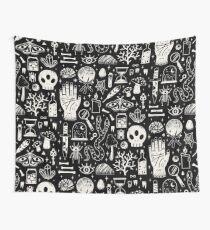 Curiosities: Bone Black Wall Tapestry