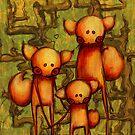 Fox Family by bahgoesthesheep
