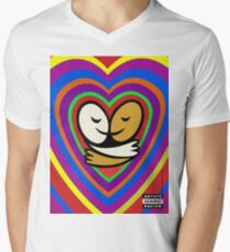 Neon Heart Love-olution Men's V-Neck T-Shirt