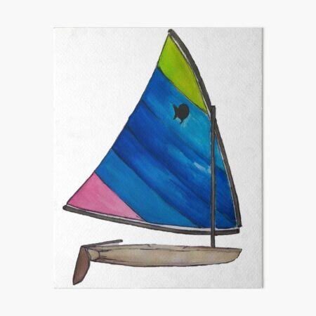 Sunfish Sailboat Art Board Print