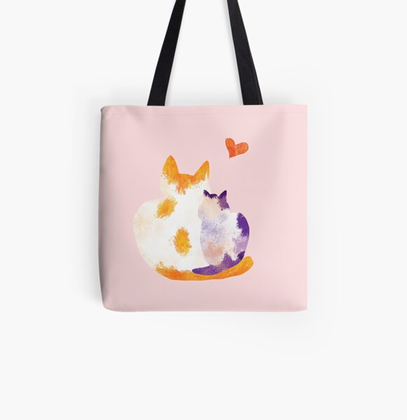 Lovely Cats All Over Print Tote Bag