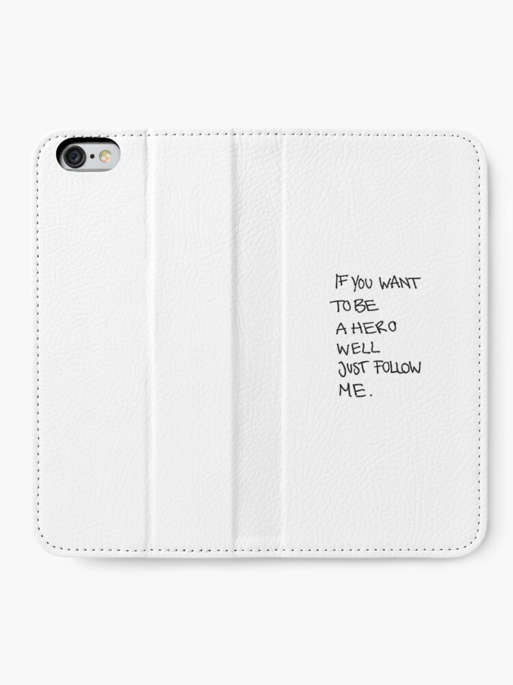 John Lennon Working Class Hero Lyrics Iphone Wallet By Linstx Redbubble