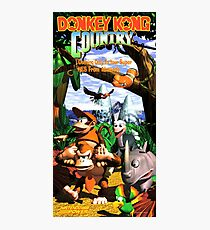 Donkey Kong Country, Reproduction Poster from Vintage Nintendo Power Issue Photographic Print