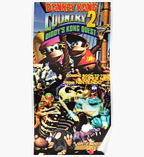 Donkey Kong Country 2, Reproduktion Poster von Nintendo Power Poster