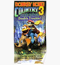 Donkey Kong Country 3, Reproduction Poster from Vintage Nintendo Power Issue Poster