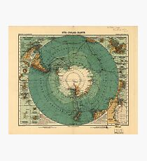 Map of Antarctica from 1912 (Süd-Polar-Karte) Photographic Print