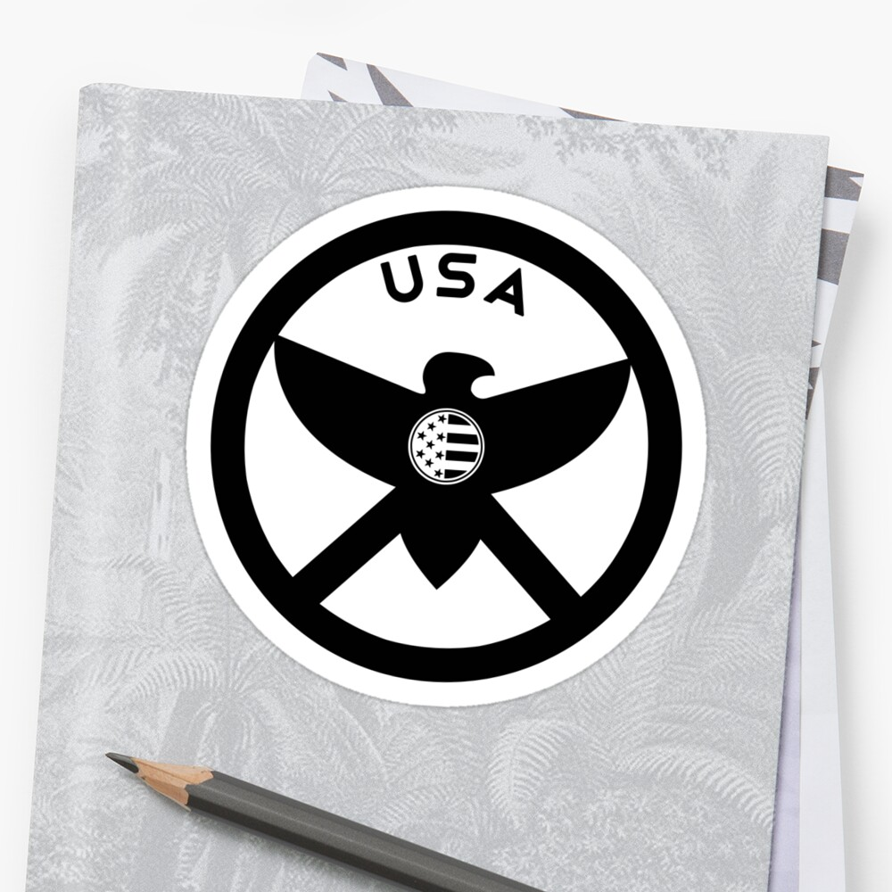 USA - EAGLE / MOLON LABE SHIELD Sticker
