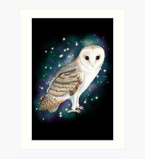 Starry Starry Barn Owl Art Print