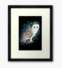 Starry Starry Barn Owl Framed Print