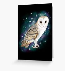 Starry Starry Barn Owl Greeting Card