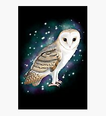 Starry Starry Barn Owl Photographic Print