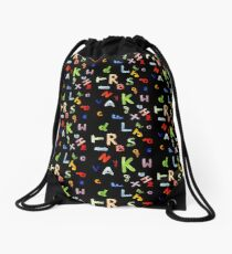 Alphabet Drawstring Bag