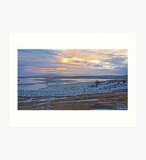 Winter sunset over Iceland Art Print