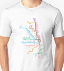 Chicago Trains Map Unisex T-Shirt