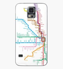 Chicago Trains Map Case/Skin for Samsung Galaxy