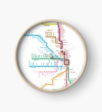 Chicago Trains Map Clock