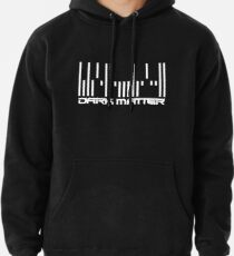 Dunkle Materie - Barcode Weiß Hoodie