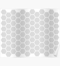 NORDIC EXAGON PATTERN - GREY 01 Poster