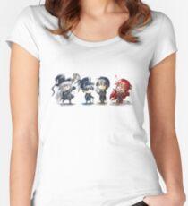 Kuroshitsuji Chibi Women's Fitted Scoop T-Shirt