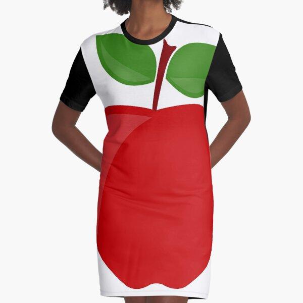 apple Graphic T-Shirt Dress