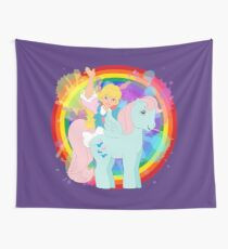 my little pony 1986 movie poster megan wind whistler repro rainbow frame Wall Tapestry