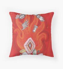Die by the Fire, Born from the Ashes Throw Pillow