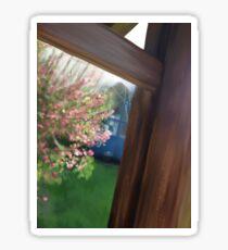 Pretty garden floral scenery artwork Sticker