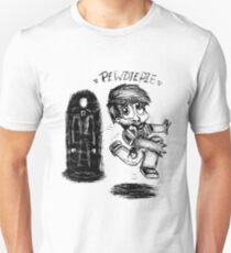 Pewdiepie and the Slenderman Unisex T-Shirt