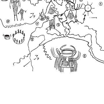 Owl Cave Petroglyph black by ewhiteside1
