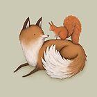 Fox & Squirrel by Sophie Corrigan