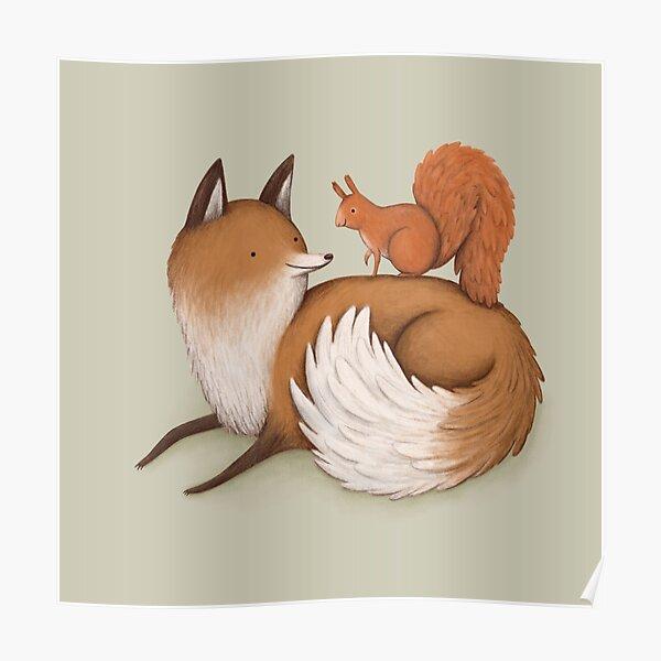 Fox & Squirrel Poster