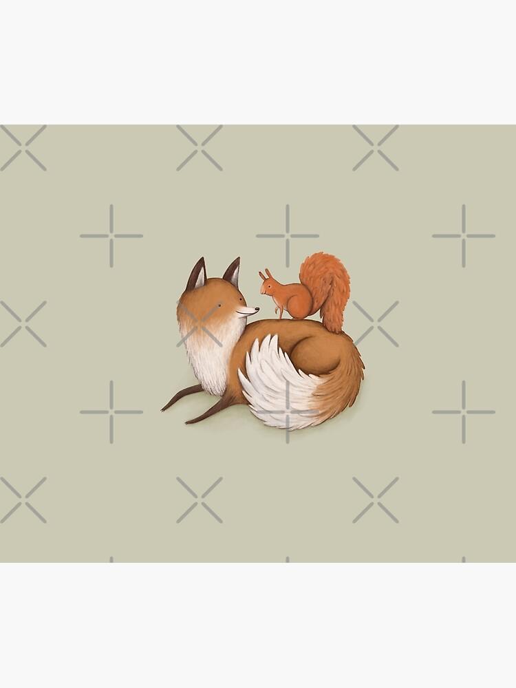 Fox Squirrel Duvet Cover By Sophiecorrigan Redbubble