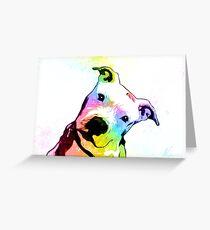 Pit bull | Rainbow Series | Pop Art Greeting Card