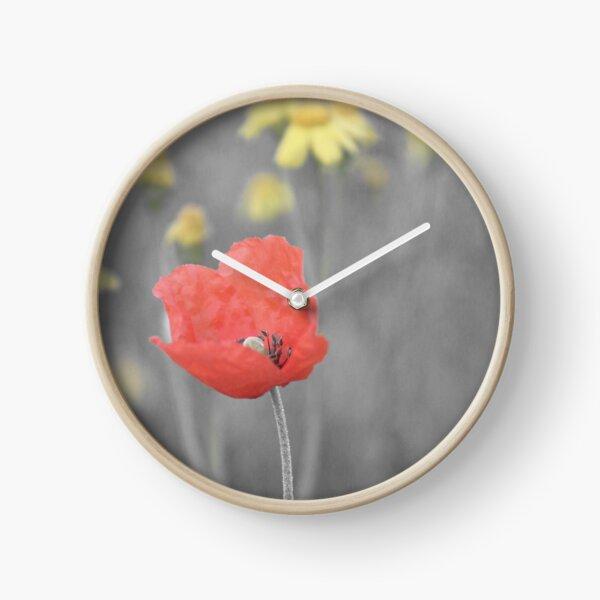 Mohnblume Uhr
