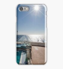 QM2 at sea iPhone Case/Skin